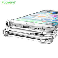 FLOVEME Fashion Crystal Clear Soft TPU Case For iPhone 6 6S iPhone6 6 S 7 Plus  Luxury Classic Slim Transparent Phone Cover Capa