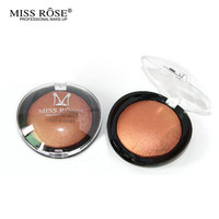 Miss Rose  New Beauty Face Blush Powder Makeup Baked Cheek Color Bronzer Blusher Palette colorete Sleek Cosmetic Shadow