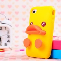 Duck Duck Soft Case for iPhone 4/4S Yellow