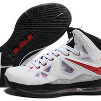 air max lebron 10 x white black and red mens nba shoes online shop