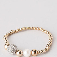 STERLING FIREBALL STRETCH BRACELET