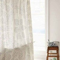 Plum & Bow Cloth Stamped Medallion Shower Curtain