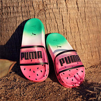 Puma X Sophia Webster Jelly Transparent Fruit Watermelon Slippers #2768