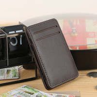 Slim Brand 2016 Male Magic Wallet leather Purse Men High Quality Carteira Magica Masculina Monnaie Small Wallets Male Female