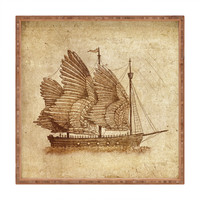 Terry Fan Winged Odyssey Square Tray