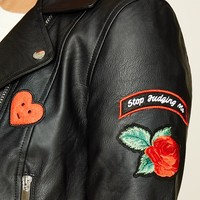Patched Moto Jacket