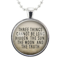 Buddha Quote Necklace