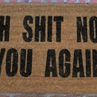 Oh Shit Not You Again Coir Doormat - 22