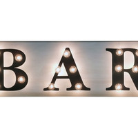 """Marquee Light-Up """"Bar"""" Sign, Signs"""