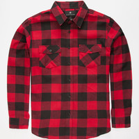 Shouthouse Cast Mens Flannel Shirt Red  In Sizes
