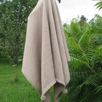 women ponchos knit poncho wool poncho wool cape Beige knit poncho wraps shawls knit scarf knit wrapknit shrug knit blanket knit sweater