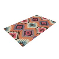 "Amanda Lane ""Southwestern Dreams"" Orange Pink Woven Area Rug"
