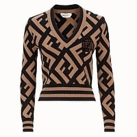 Fendi Pullover coloured woolen sweater