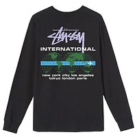 International Long Sleeve T-Shirt Black