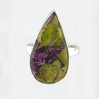 Atlantisite Pear Sterling Silver Ring