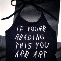 SWEET LORD O'MIGHTY! YOU ARE ART HALTER IN BLACK