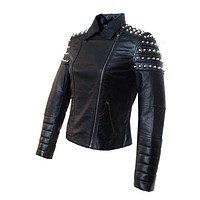 Victoria Studded Women Leather Jacket
