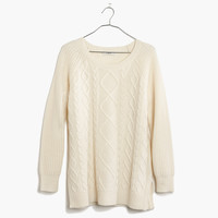 Cable-Front Sweater