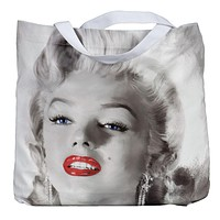 Marilyn Monroe - Red Lips Portrait Tote Bag
