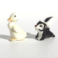 Hagen Renaker,  Baby Duck, Baby Skunk, Collectible Figurine, Miniatures, Animal Figurines, Retired Figurines