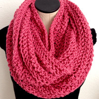 READY TO SHIP. Valentine Crochet Infinity scarf. Country Rose Infinity Crochet Scarf.