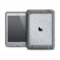 The Silver Sparkly Glitter Ultra Metallic Apple iPad Mini LifeProof Nuud Case Skin Set