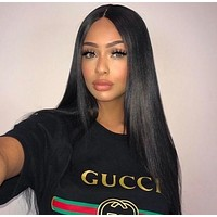 GUCCI Hot letters print T-shirt top H