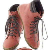 Busk in the Glory Sneaker in Rose | Mod Retro Vintage Flats | ModCloth.com
