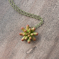 Small Green Succulent Polymer Clay Pendant Wholesale Mini Succulent Plants Arrangement Succulent Jewelry Birthday Christmas Wedding Gifts