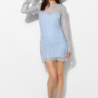 For Love & Lemons Lovebird Lace Long-Sleeve Dress - Urban Outfitters