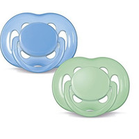 Philips AVENT Freeflow Pacifier BPA, Free Blue / Green, 6-18 Months (Pack of 2)