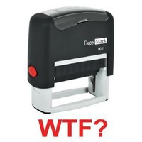 WTF? Red Stock Self-Inking Rubber Stamp - ExcelMark Model 9011