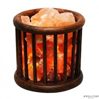 Evolution Salt Wooden Basket Himalayan Salt Lamp - 1 Lamp