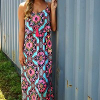 Wave Of Mystery Maxi Dress: Multi