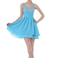 Sunvary Straps Chiffon Junior Cocktail Party Homecoming Prom Dress Junior