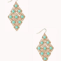 Sophisticated Geo Chandelier Earring