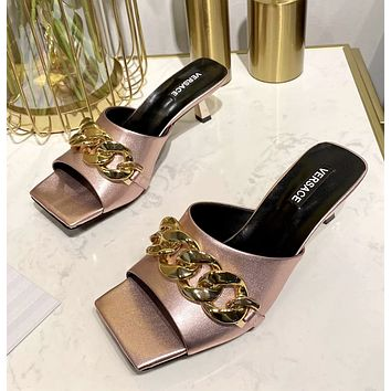 Versace Women's 2021 NEW ARRIVALS Fashion High-heeled Sandals Shoes