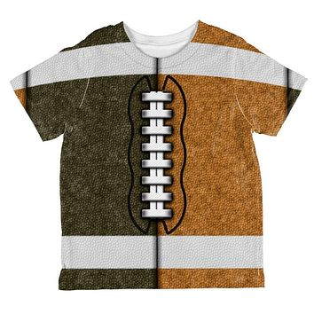 Fantasy Football Team Brown and Rust All Over Toddler T Shirt