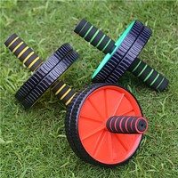 1Pcs AB Abdominal Waist Workout Exercise Gym Fitness Wheel Roller Wheels household equipment hand tool and 1pcs Knee Pad#17-23