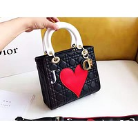 DIOR selling fashion peach embroidery single shoulder bag casual lady shopping bag