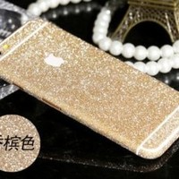 "Furivy Luxury Bling Crystal Diamond Screen Protector Film Sticker for Iphone 6 Plus 5.5"" (Gold)"