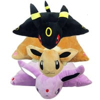 40*33cm Pokemon Eevee Umbreon Espeon Plush Toys Soft Stuffed Pillow Doll Brithday Gift For Girl friend
