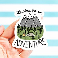 Turtle's Soup - It's Time for an Adventure Vinyl Sticker