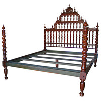 A Magnificent 18th Century King Sized Portuguese Rosewood Bed