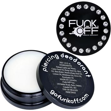 Clear Gem Black Funk-Off Piercing Deodorant