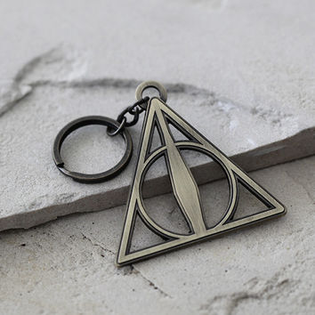 Deathly Hallows Metal Keychain