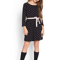 FOREVER 21 GIRLS Polka Dot Fit & Flare Dress (Kids)
