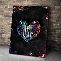 One Heart Canvas Set