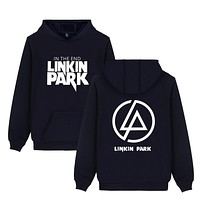 Linkin Park Hoodies Men Printed Pattern Rock& Roll Fashion Pullover Oversized Hoodies Winter Fleece Cotton Black EU Sweatshirts