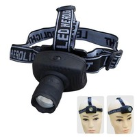 Selling Outdoor Sports Gear Camping Headlamps CREE 3W LED Zoomable 3 Mode Torch Light Flashlight Headlight C42